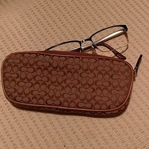 COACH Signature Printed Eyeglass Holder